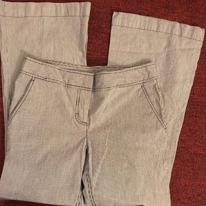 Kenneth Cole Reaction pinstripe flare pants size 6